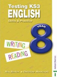 Testing KS3 English: Year 8  By Christine Moorcroft, By Ray Barker